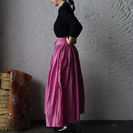 Tabrik gathered skirt (botanical dye pink)