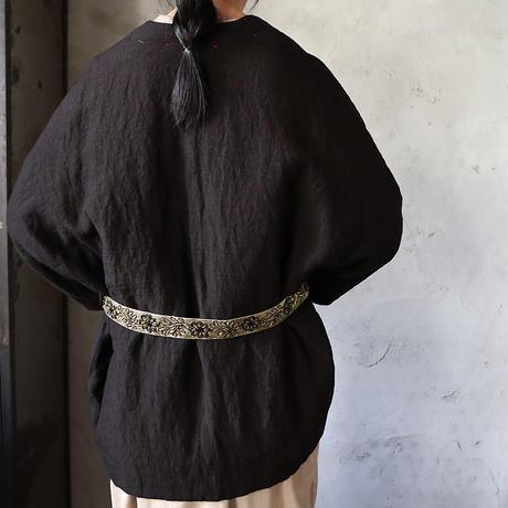 TOWAVASE linen jacket paillet