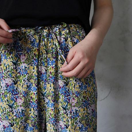 Le pivot flower print  rough pants (blue mix)