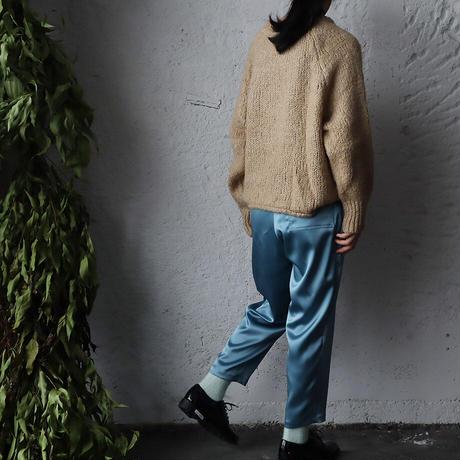NOTA  satin pants (blue gray)
