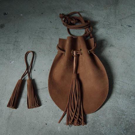 chiihao   round pochette camel