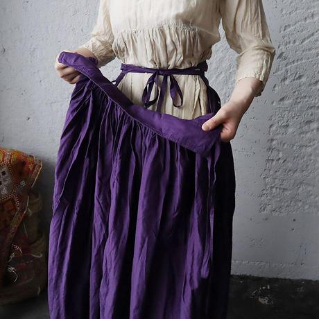 Tabrik gathered skirt (botanical dye violet)