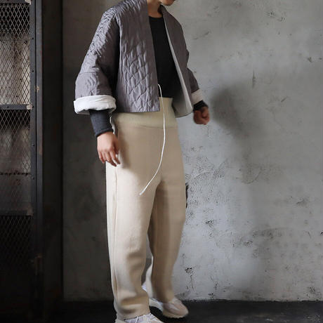 TOWAVASE silk quilt jacket (gray)
