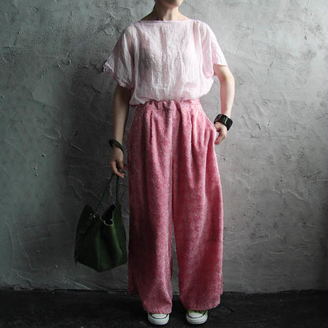 NATIVE VILLAGE relax pants pink