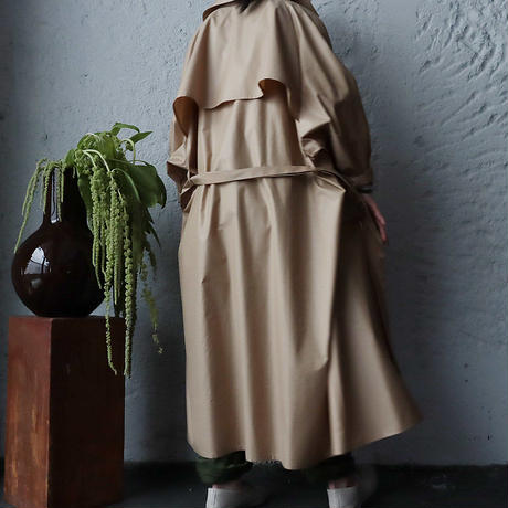 R&D.M.Co- thin cloth big trench coat (beige)