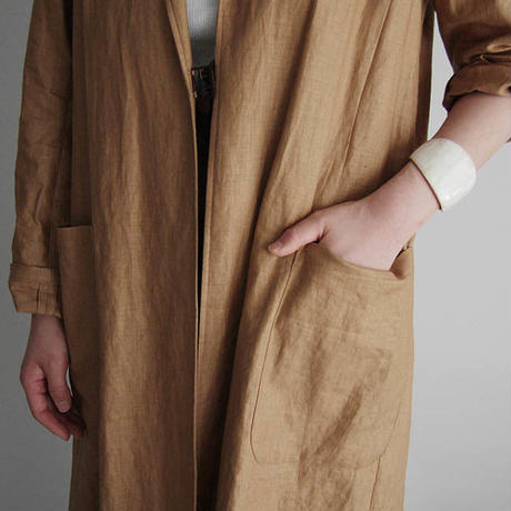Tabrik coating linen coat beige
