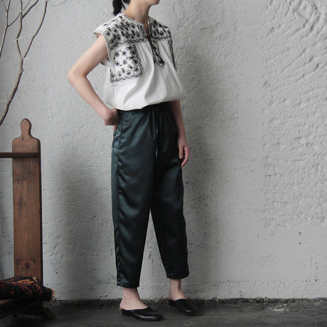 NOTA  satin pants (dark green)
