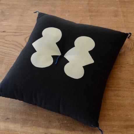 型染め本縫い小座布団 分銅