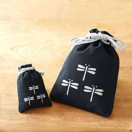 縁起柄セット<守袋+合財袋> とんぼ ●守袋は新しい紐仕様でのお届けとなります