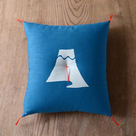 型染め本縫い小座布団 富士山