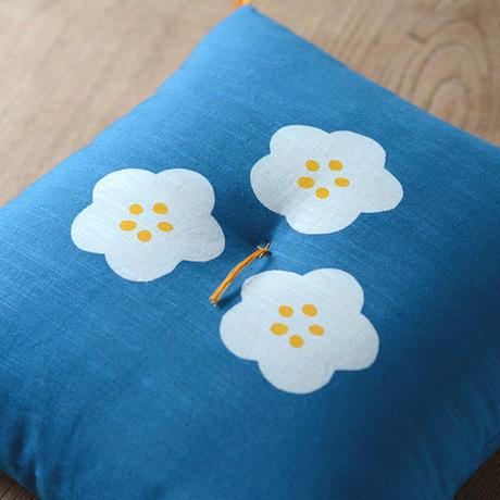 型染め本縫い小座布団 梅