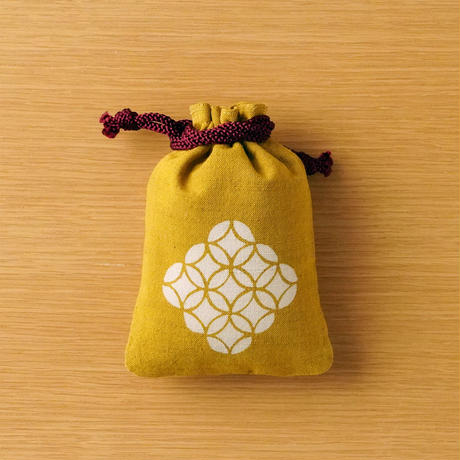 縁起柄セット<守袋+合財袋> 七宝 ●守袋は新しい紐仕様でのお届けとなります