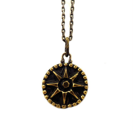 THEFT - silver×brass SUN motif Necklace top