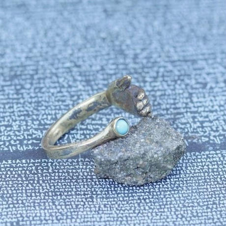 TIME   Hand Stone Ring(BRASS)