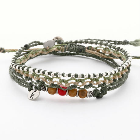 Wakami - 3set anklet / green
