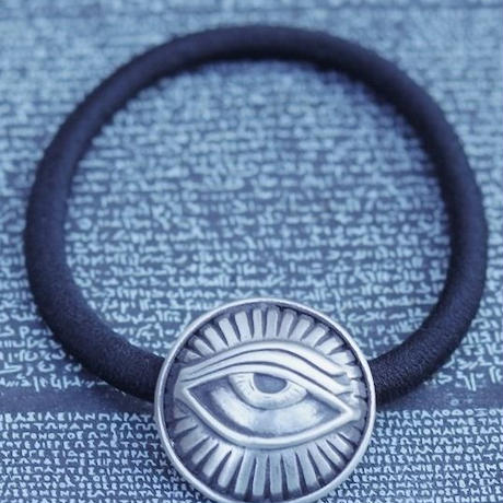 TIME Eyes hair rubber Bracelet(SILVER)