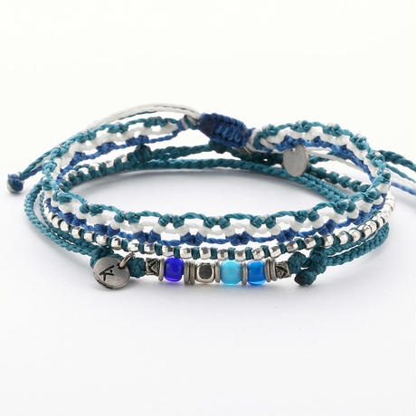 Wakami - 3set anklet /  blue
