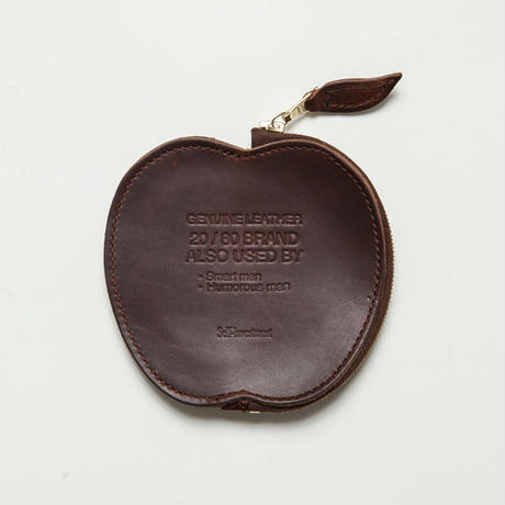 20/80トゥエンティーエイティー/ HORWEEN LEATHER APPLE COIN CASE/DBR
