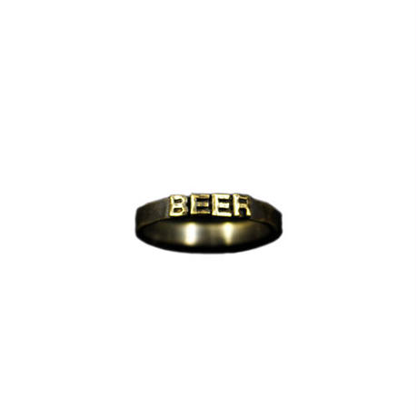 "Varde77×THEFT MESSAGE RING S ""BEER"""