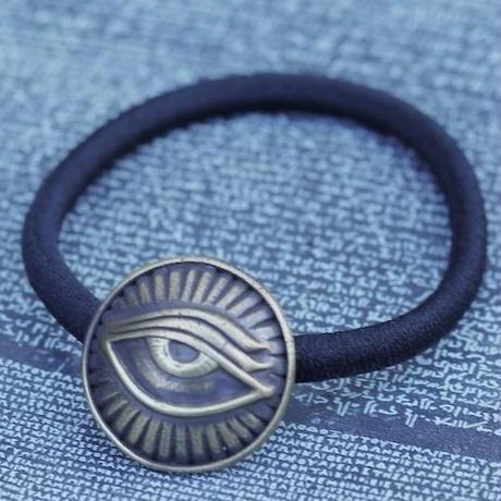 TIME Eyes hair rubber Bracelet(BRASS)