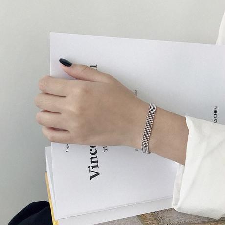 j183.S925 flat grain bracelet