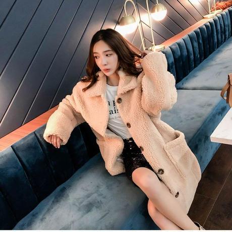 【取り寄せ品】ふわふわで可愛い♡フェミニンカジュアル ファーコート