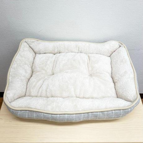 IDOG&ICAT  Botania スクエアベッド チェックベージュ/M【犬用ベッド】