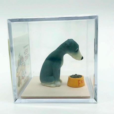 Dog@CUBE 「WAIT!」イタリアングレーハウンド(ブルー&ホワイト)【ドッグフィギュア】