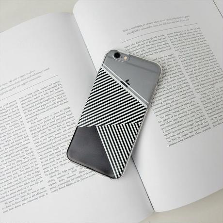 iphone-02279 送料無料! モノクロ ライン iPhoneケース