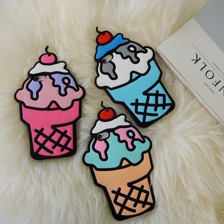 iphone-02146 送料無料! アイスクリームパフェ iPhoneケース