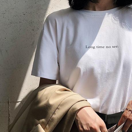 nh-tops-02019  ロゴデザイン Tシャツ ホワイト