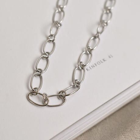 necklace2-02021 送料無料! SV925 シングルチェーン チョーカーネックレス シルバー925