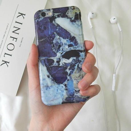 iphone-02058  送料無料! タイプ15 ダークブルー 大理石 マーブル柄 ストーン柄 天然石柄 iPhoneケース