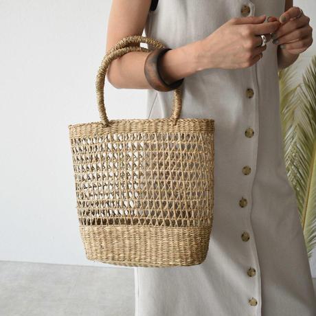 bag2-02511 透かし編み かごバッグ A