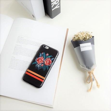 iphone-02276 送料無料! ローズ ブラック iPhoneケース