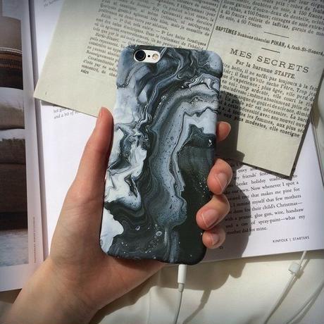 iphone-02049  送料無料! ストーン柄 マーブル柄 ブルー 鉱物 岩石 天然石 iPhoneケース
