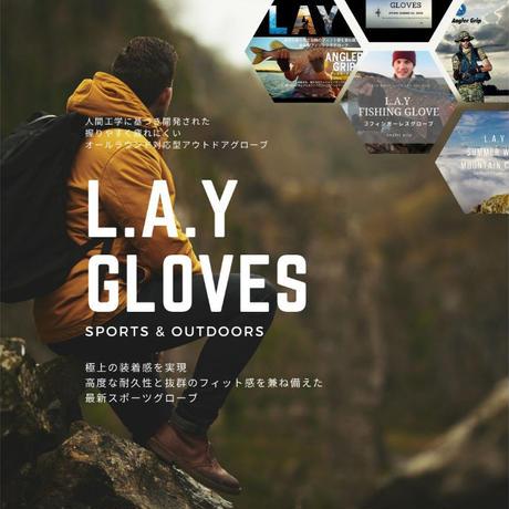 L.A.Y スポーツ フィッシング グローブ 釣り 手袋 ジギング エギング シーバス フライ トローリング【Angler Grip 】(春夏用3フィンガーレス))