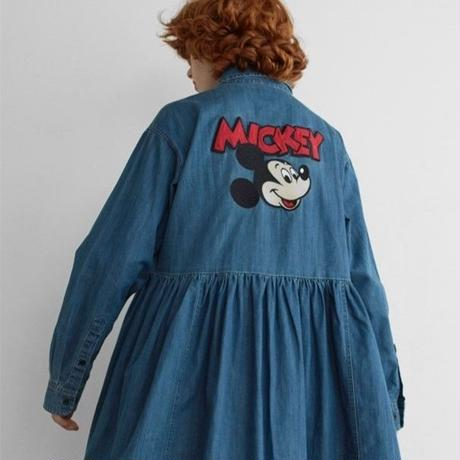 LAZY OAF / MICKEY MOUSE LOOSE DENIM DRESS