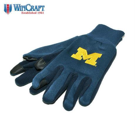 ウィンクラフト 手袋 グローブ メンズ レディース WinCraft NCAA ミシガン ウォルバリンズ 防寒 スマートフォン対応 フリース ワンサイズ A1724617