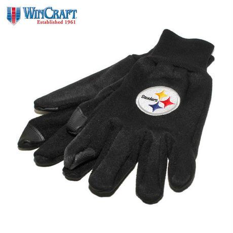 ウィンクラフト 手袋 グローブ メンズ レディース WinCraft NFL ピッツバーグ スティーラーズ 防寒 スマートフォン対応 フリース ワンサイズ A1668812