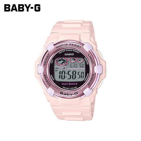 【女性用】 カシオ ベビーG 腕時計 ベビージー ベイビージー レディース CASIO BABY-G 電波 ソーラー 防水 [ 国内正規品 ] BGR-3000CB-4JF