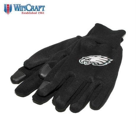ウィンクラフト 手袋 グローブ メンズ レディース WinCraft NFL フィラデルフィア イーグルス 防寒 スマートフォン対応 フリース ワンサイズ A1668912