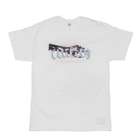 utility×「ロックの復権再演」T-shirt