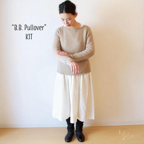 【4/25まで受注販売】ベビーリャマ100%ウーステッド 『 LLAMA I 』使用:B.B.pull-over キット(編み図と糸のセット) プルオーバーKIT