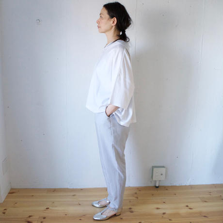 humoresque(ユーモレスク) shirts シルクコットン セーラーカラーブラウス