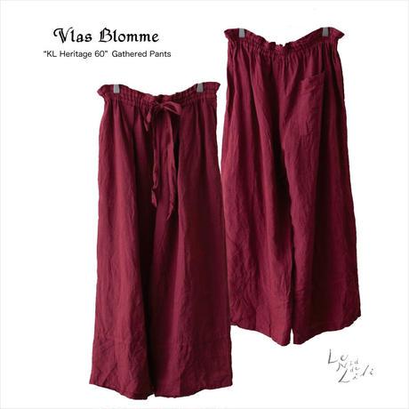 Vlas Blomme(ヴラスブラム)  KL Heritage 60(ムラ染め) ギャザーパンツ 13538891