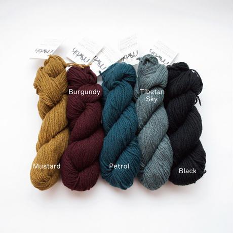 【単品ページで1カセ以上購入いただいた方のみ同時注文可能】 mYak 100% baby yak wool【Medium】使用 ニットキャップ 日本語編み図