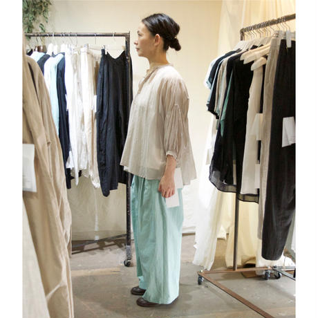 suzuki takayuki(スズキタカユキ) puff-sleeve blouse シルクコットン パフスリーブブラウス