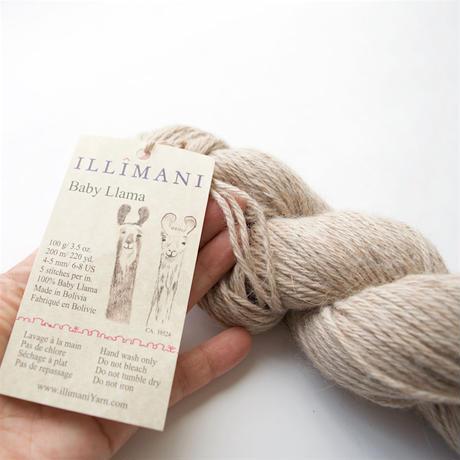 【受注販売-11/16 21:59まで】illimani『 LLAMA I 』ベビーリャマ100% De-haired Baby Llama/Worsted weight100gかせ