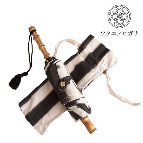 傳(ツタエノヒガサ)浜松注染 日傘/ 3段階折り畳みタイプ「ウサギノタスキ - たて棒」